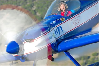 Debby Rihn-Harvey flies her Cap 232 aerobatic performance airplane. Photo courtesy of Debby Rihn-Harvey.