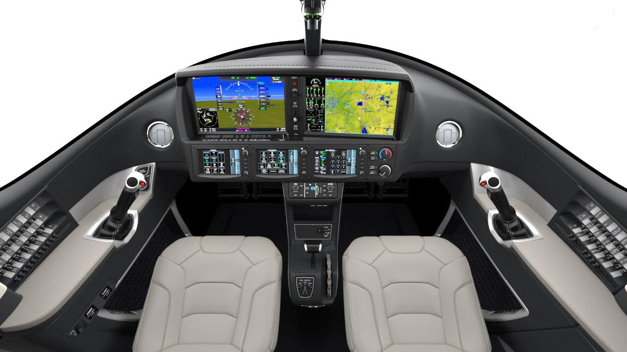 The Cirrus Vision Jet panel features a variant of the Garmin G3000 cockpit called Cirrus Perspective Touch.