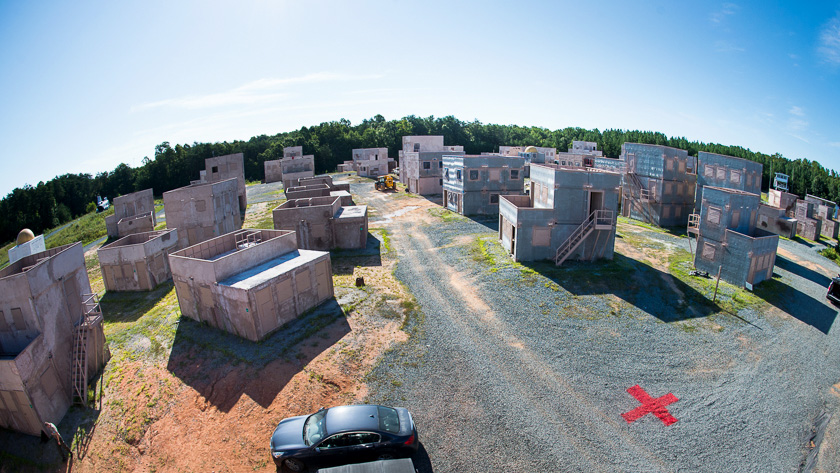 : Drone detection and interdiction systems were tested in August at the Marine Corps Base in Quantico, Virginia. Photo courtesy of The MITRE Corp.