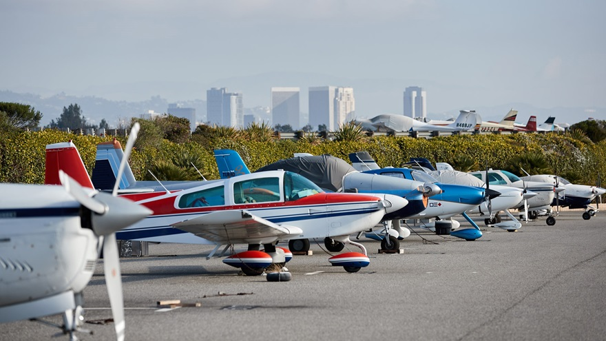 Santa Monica Municipal Airport. Photo by Mike Fizer.