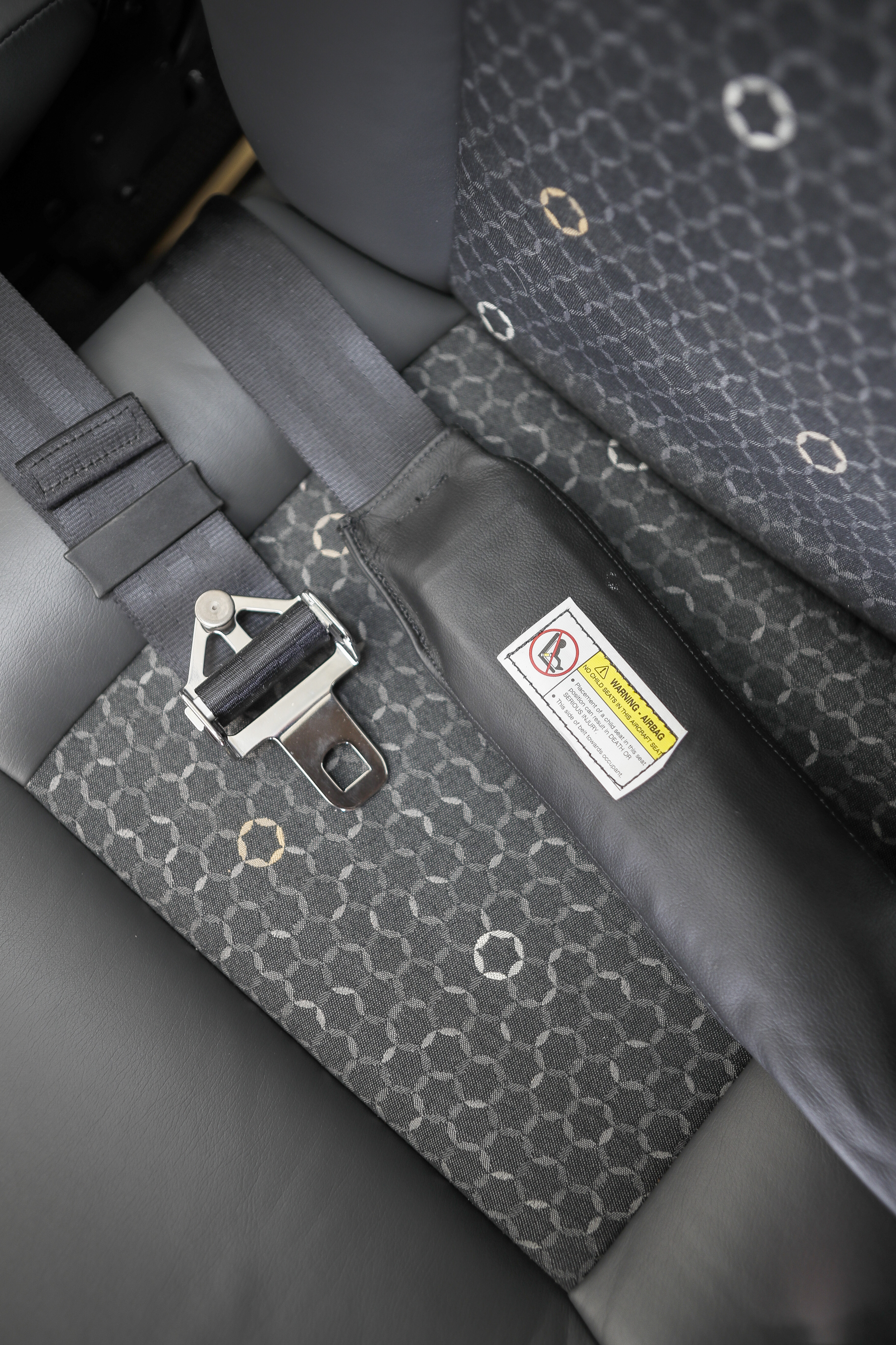 Airbag seatbelts provided by AmSafe.