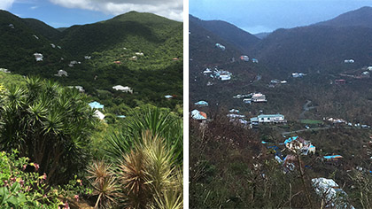 Hurricane Irma survivor Mike Keaton documented the damage left after the storm raked through St. John, U.S. Virgin Islands, Sept. 9. Keaton was later airlifted via general aviation to the mainland U.S. from nearby St. Croix. Photo courtesy of Mike Keaton.