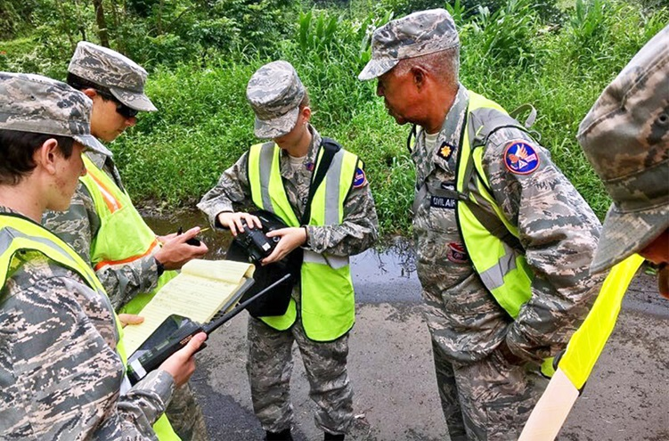 Civil Air Patrol members in Hawaii were directed to collect data with their cell phones to help provide more accurate Hurricane Lane damage reports to the Federal Emergency Management Agency, Aug. 28, 2018. Photo courtesy of the Civil Air Patrol.