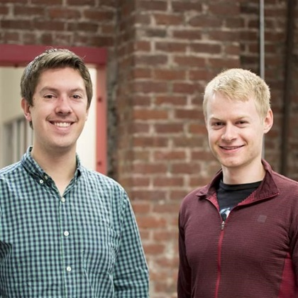 Iris Automation co-founders Alex Harmsen, left, and James Howard. Photo courtesy of Iris Automation.
