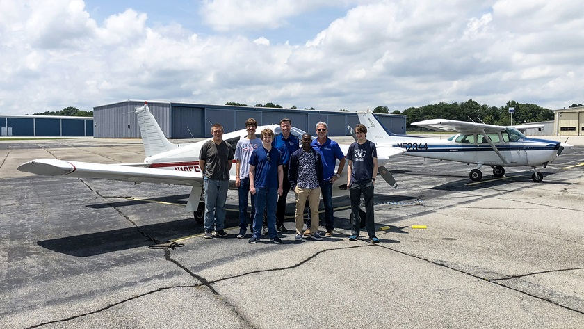 Students selected to participate in the free program have the opportunity to explore diverse aspects of the aviation industry. Photo by Les Singleton.