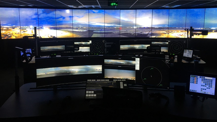 The Colorado Remote Tower Project control room. Photo courtesy of Northern Colorado Regional Airport.