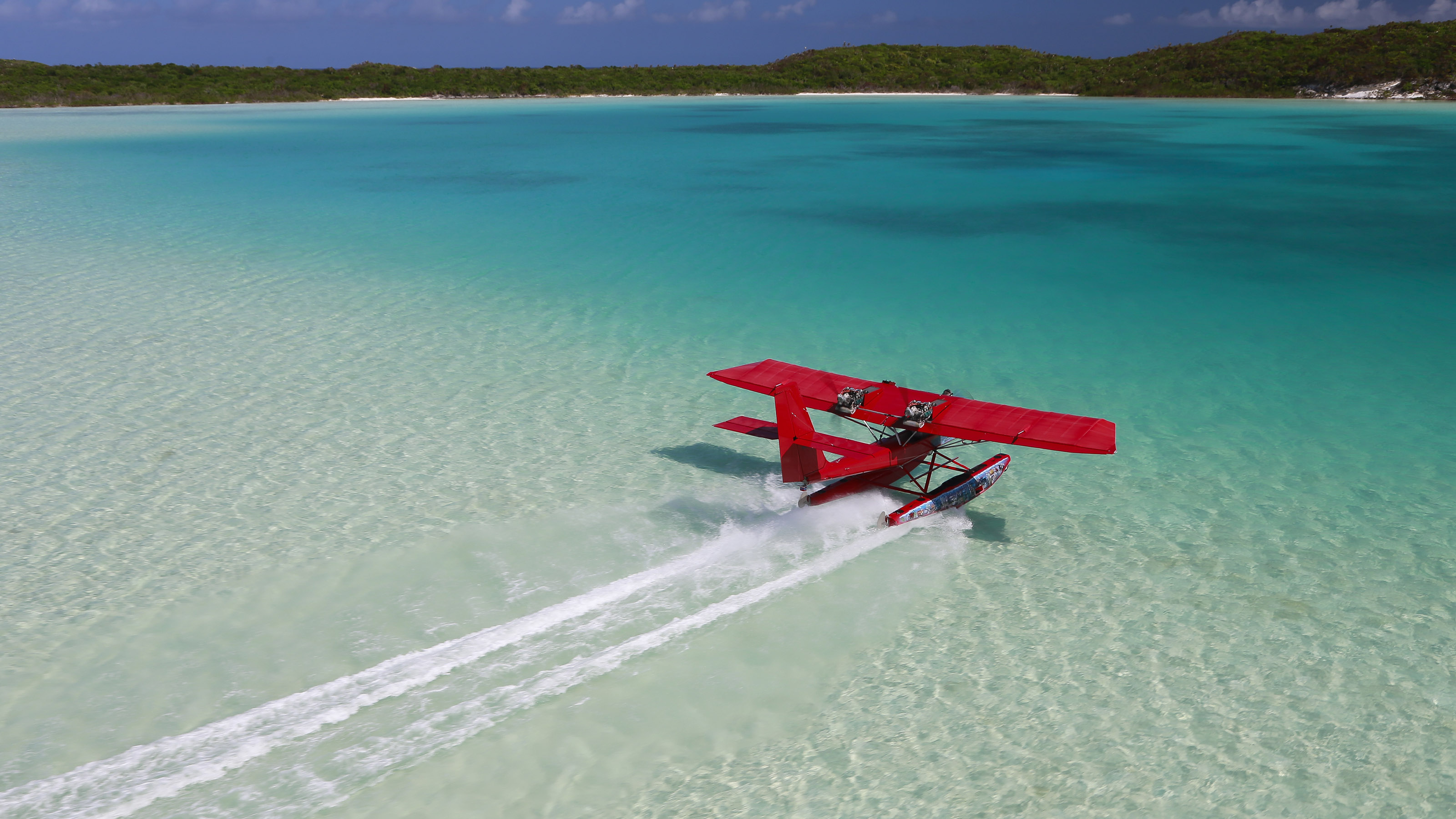 It's hard to beat the intimate view an AirCam can give you of the turquoise water and white-sand beaches in the Bahamas. Photography by Chris Rose.
