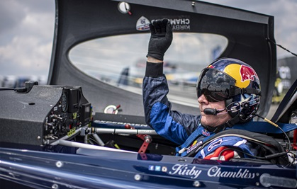 Kirby Chambliss of the United States prepares for his flight during the Red Bull Air Race World Championship finals at Lake Balaton, Hungary. Photo courtesy of Predrag Vuckovic, Red Bull Content Pool.