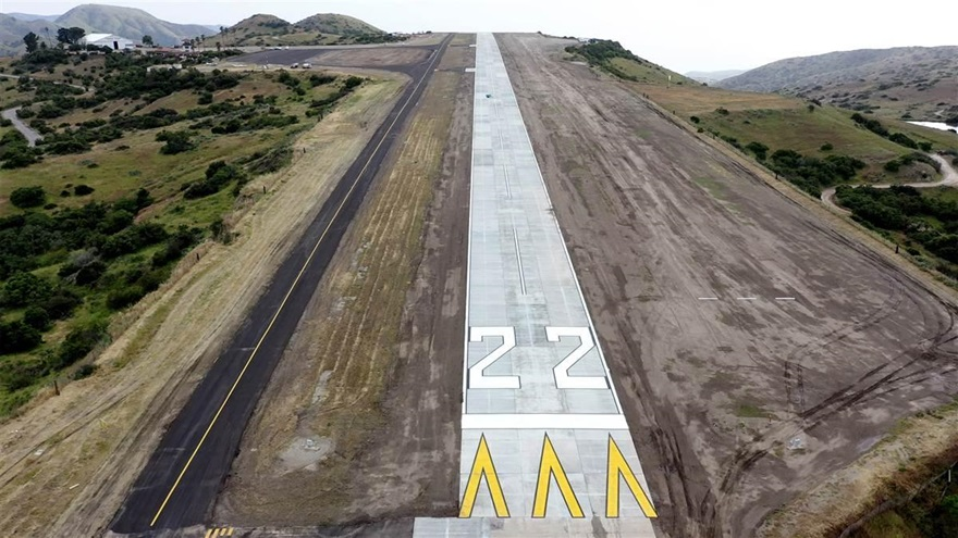 Catalina Island's Airport in the Sky reopened May 3 after and a joint effort from the U.S. Marine Corps and the U.S. Navy Seabees. Photo courtesy of the Catalina Island Conservancy.