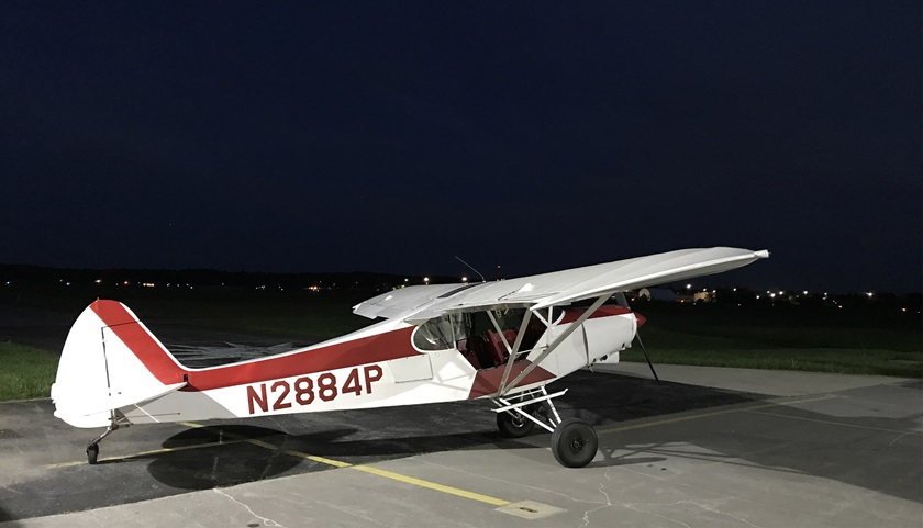 A twilight flight in the taildragger bolstered my confidence. Photo by David Tulis.