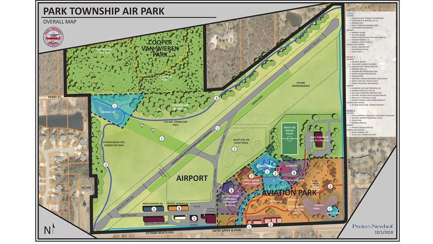 Graphic detailing proposed changes to Park Township Airport. Graphic courtesy of Park Township.