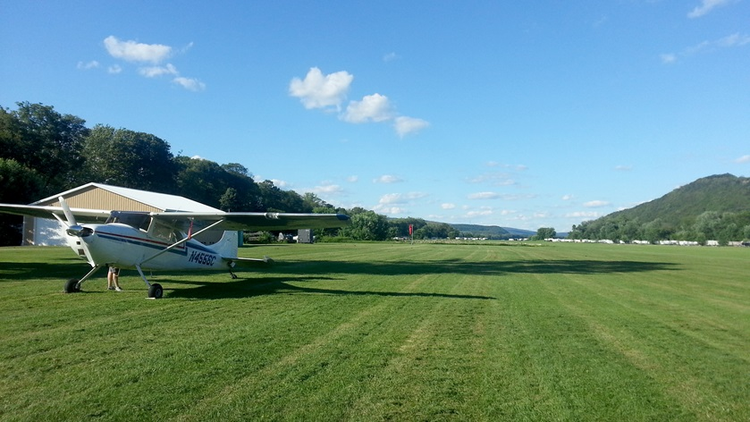 Use the AOPA app's Pilot Passport feature and check in to grass landing strips during April. Photo by Alyssa Cobb.