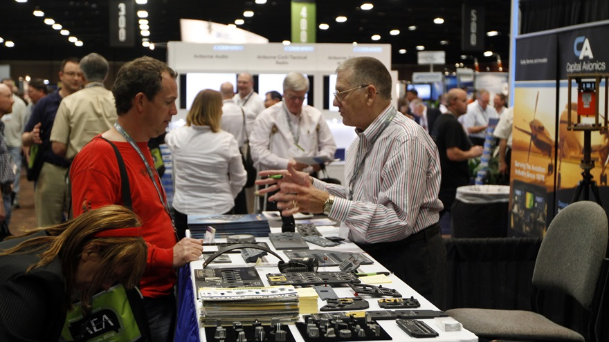 The Aircraft Electronics Association announced March 13 it will postpone its long-running annual convention that had been scheduled to begin at the end of the month. Photo by Jim Moore.