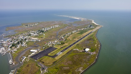 The state of Virginia is asking pilots to avoid flying to Tangier Island in the Chesapeake Bay during the coronavirus pandemic. Photo by Chris Rose.
