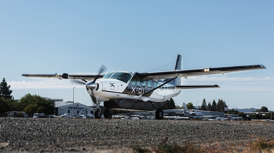 A Cessna Grand Caravan retrofitted for autonomous computer control was unveiled August 20. Photo courtesy of Xwing.