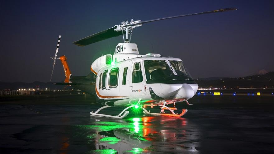 Erickson announced that it will acquire the Bell model 214ST and B/B1 helicopter type certificates from Bell Textron Inc. Photo courtesy Erickson Inc.