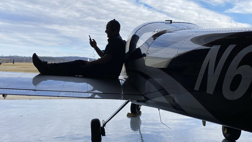 Pilots and aviation enthusiasts can enjoy the feeling of flight wherever they go by listening to the top 100 aviation songs in a playlist cultivated by fellow aviators. Photo by David Tulis.