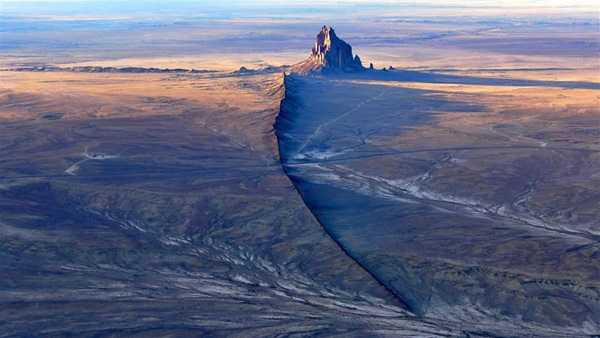 "SHIP ROCK (also known as Tse Bitai or ""the winged rock"") NAVAJO, NEW MEXICO"