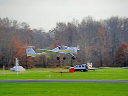 GT Aviation uses a Diamond DA20 for primary training out of Potomac Airfield, which is located within the Washington, D.C., Flight Restricted Zone.