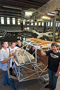 Restoring a classic and antique aircraft as part of their curriculum.