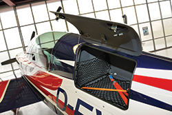 Extra 330 LT luggage compartment
