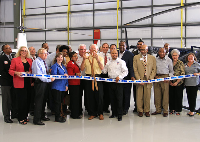 The DeSoto Heliport in Texas opened Aug. 27 with a ribbon cutting. Photo courtesy SKY Helicopters.