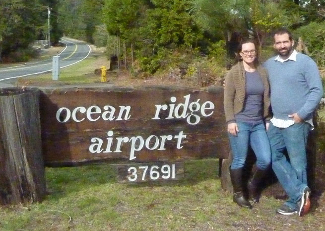 Julie and David Bower are working to save Ocean Ridge Airport. Photo courtesy of Julie Bower.