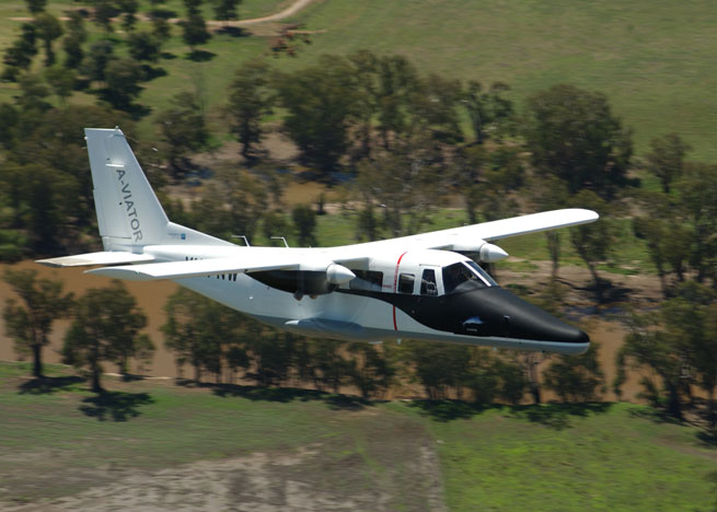 The Vulcanair A-VIATOR is a nonpressurized twin turboprop powered by two Rolls-Royce 250 engines.
