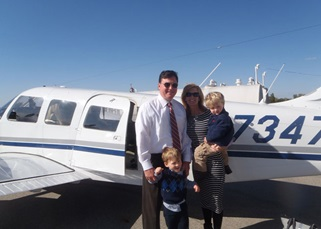 Rokita, a pilot, with his family.