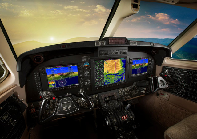 Garmin announces upgrades to the G1000 for King Air C90s and 200/300 series aircraft in advance of the National Business Aviation Association annual convention. Image courtesy of Garmin.
