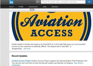Aviation Access Project used social media sites including LinkedIn to recruit customers.