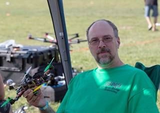 Dave Shevett started the U.S. Drone Racing Association in an effort to promote the new sport, and bring together the various groups and individuals who have been active in its earliest days. Photo by Jim Moore.