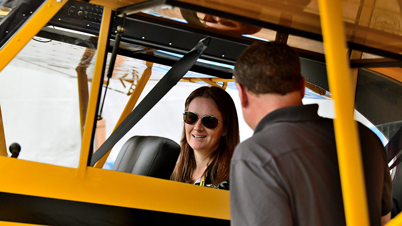 Sweepstakes project manager Alyssa Cobb answers questions about the AOPA Sweepstakes Super Cub.