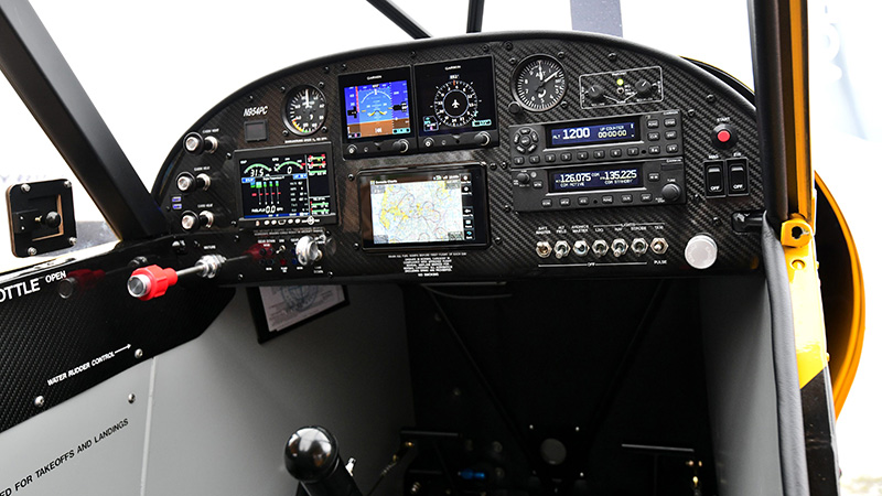 Aerotronics flawlessly designed the Sweepstakes Super Cub's instrument panel! Members love it!