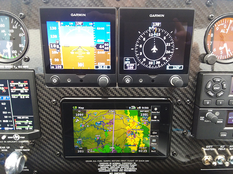 Weather approaches the Super Cub's course after an overnight stop in Kansas City, Missouri, but the Garmin aera 660 helps keep it in the clear.