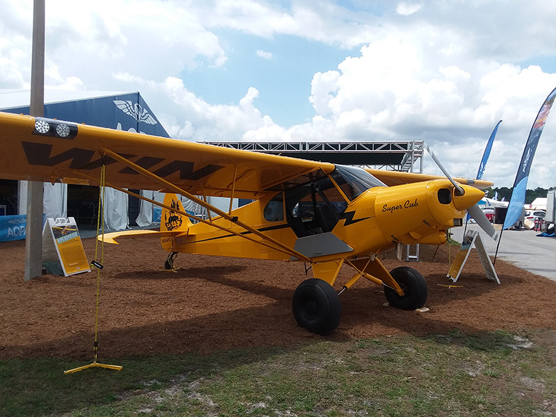 After 17 hours of flying, the AOPA Sweepstakes Super Cub makes it to Sun n Fun in Lakeland, Florida, for its big debut.