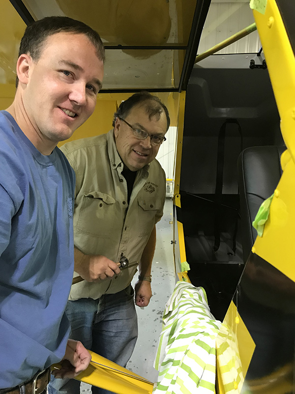 Bake Air Service's Darin and Roger Meggers and others have put about 2,500 hours into the Super Cub's restoration.