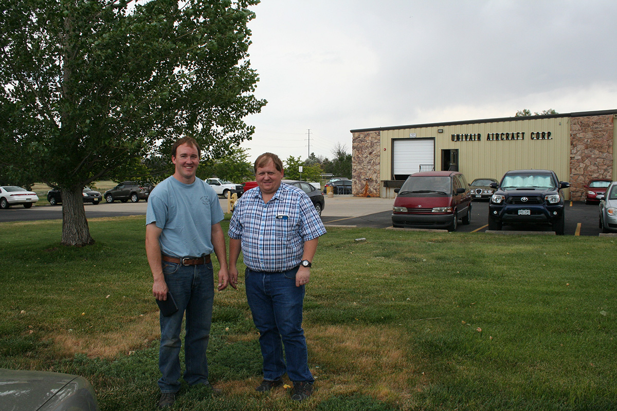 Baker Air Service's Darin Meggers with Univair Owner and President Jim Dyer at the Univair facility in Colorado.