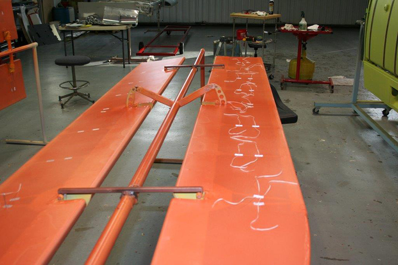 Control surfaces are covered with fabric from Consolidated Aircraft Coatings. Photo courtesy of Baker Air Service.
