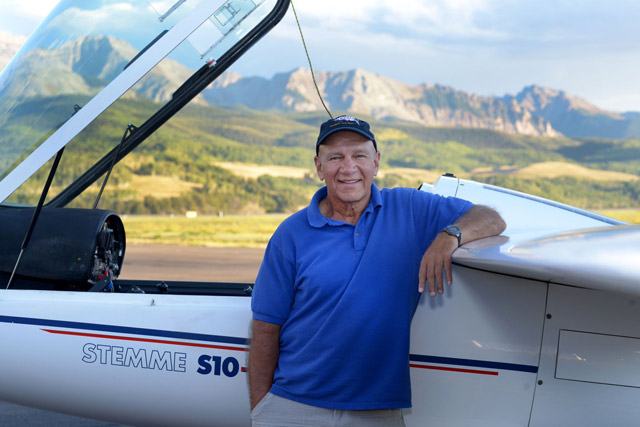 "Robert B. ""Glider Bob"" Saunders. Photo by Marc Arnold."