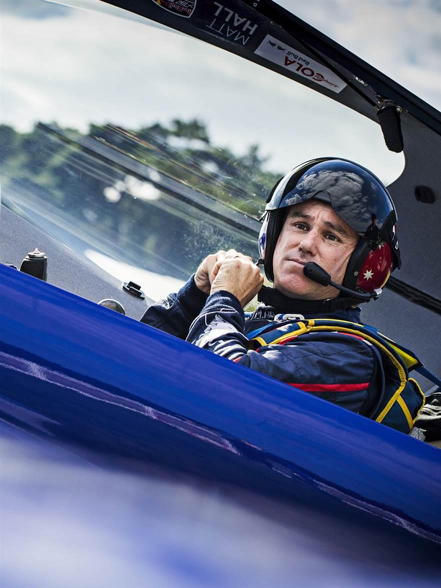Matt Hall of Australia prepares for his flight during the finals at the fifth stage of the Red Bull Air Race World Championship in Ascot, Great Britain. Photo by Samo Vidic/Red Bull Content Pool