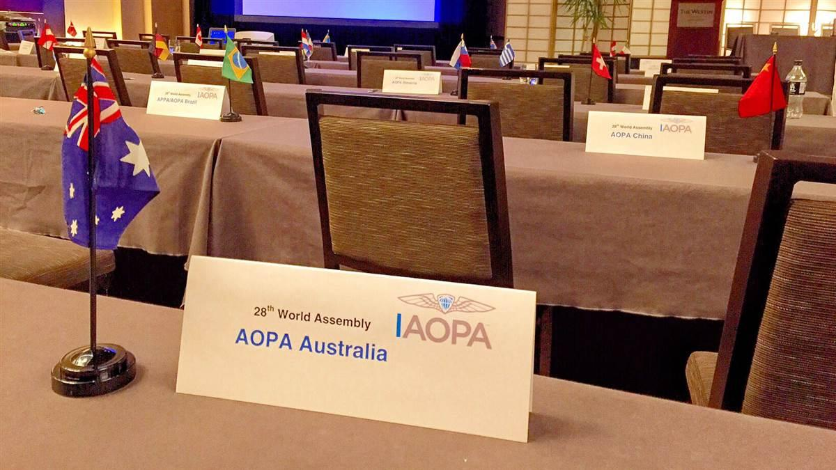 The twenty-eighth IAOPA World Assembly was held in Chicago July 21 through 24.