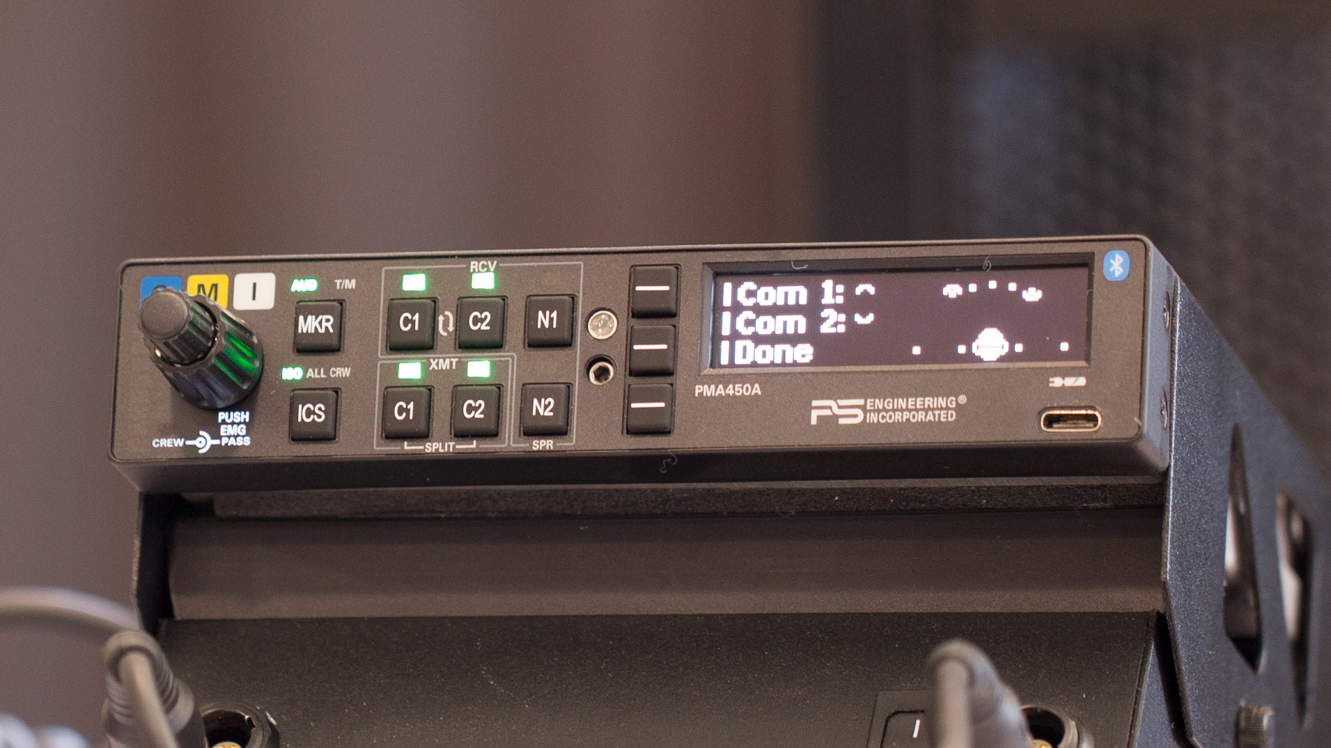 The PS Engineering PMA 450A audio panel, one of two new models announced at EAA AirVenture. Jim Moore photo.