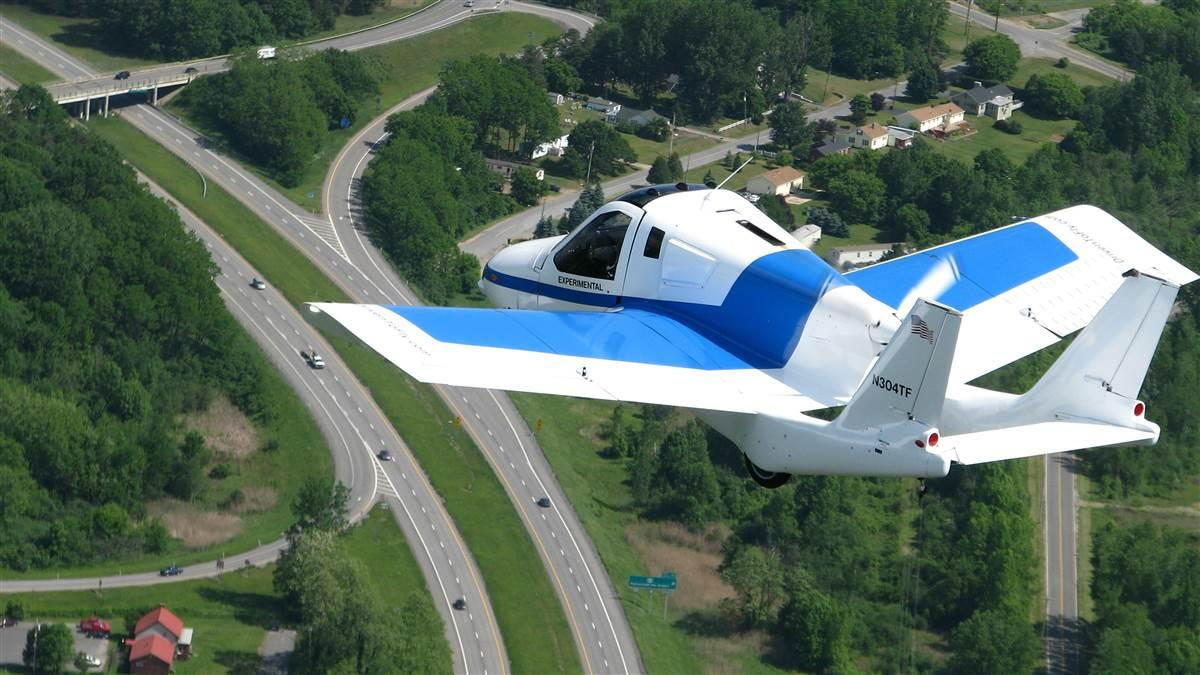 The Terrafugia Transition has been approved to fly at 1,800 pounds as a light sport aircraft. Photo courtesy of Terrafugia.