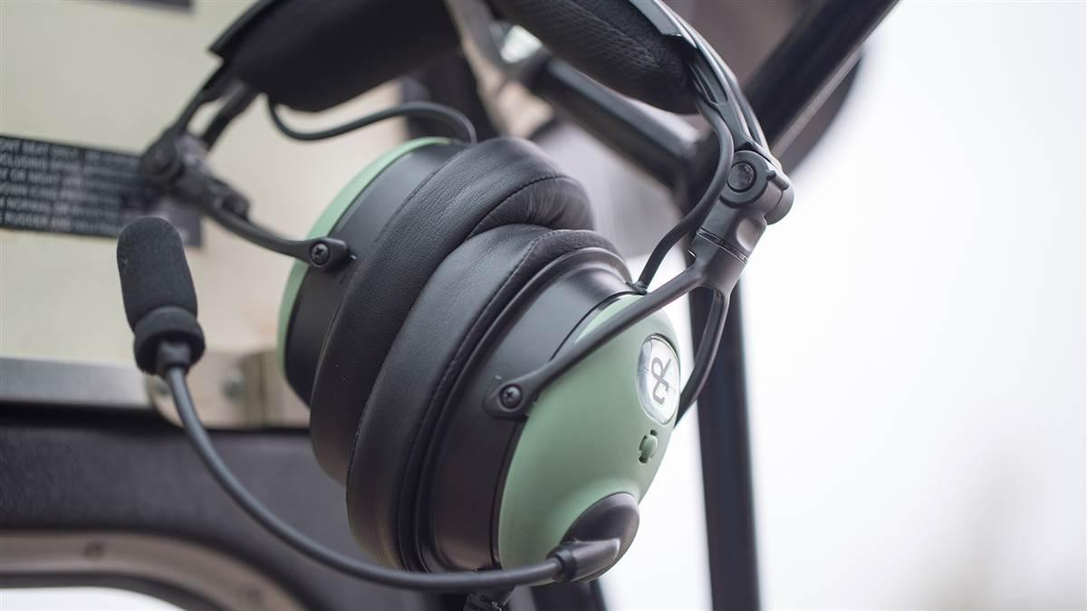 David Clark's new ONE-X headset features a more compact design that folds into a smaller package.