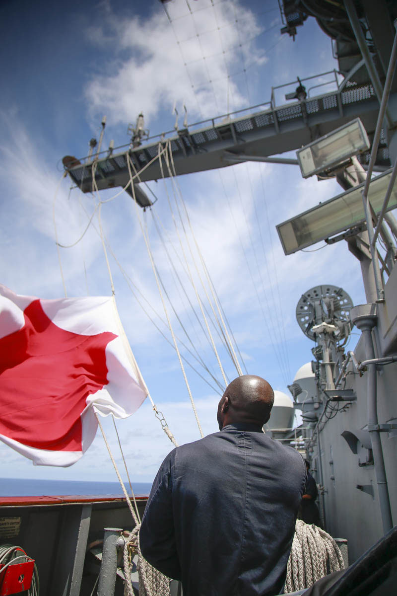 Despite all the advanced technology, signal flags still play an important role in naval aviation.