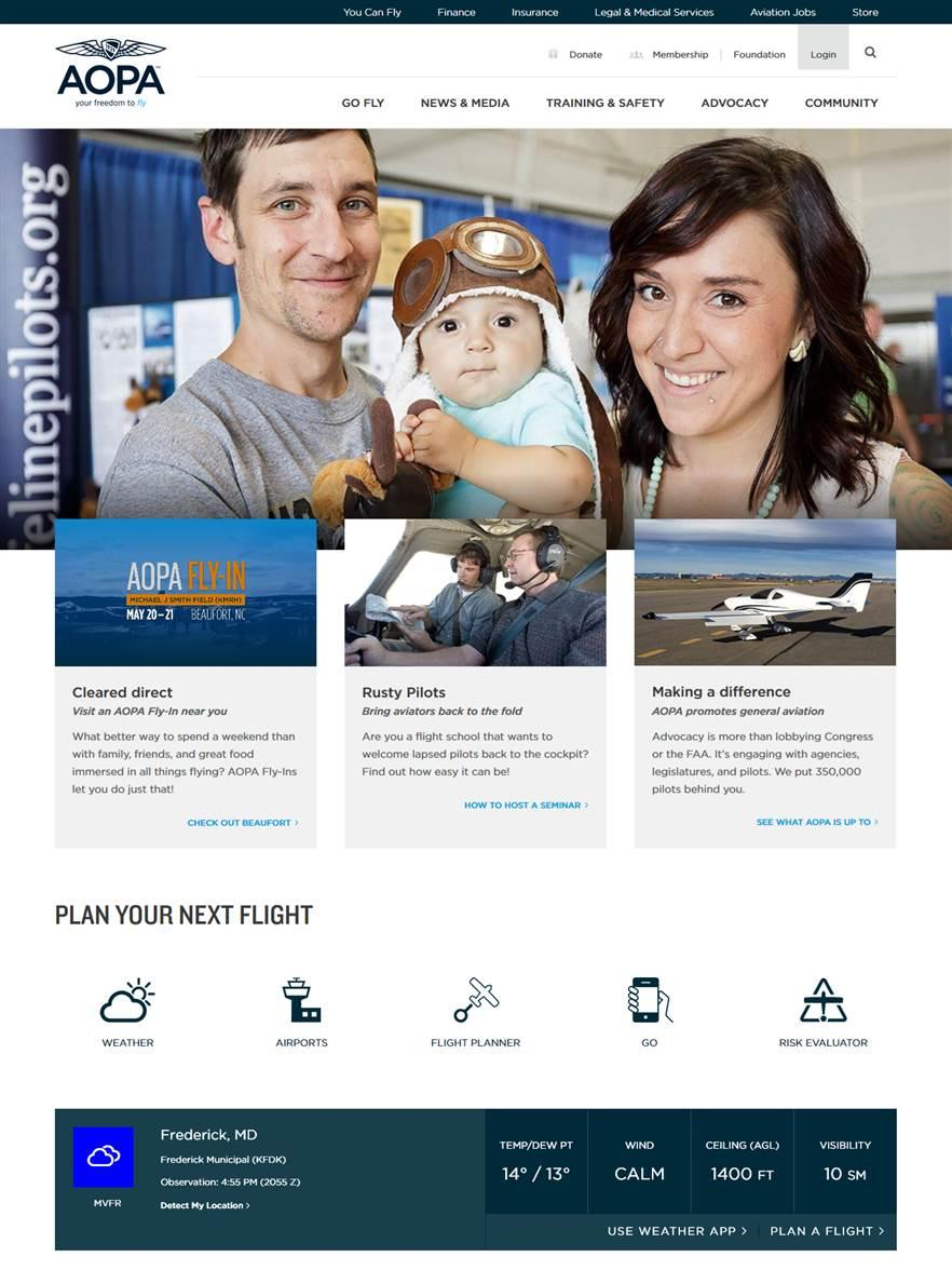 AOPA launches a new website to better serve pilots.