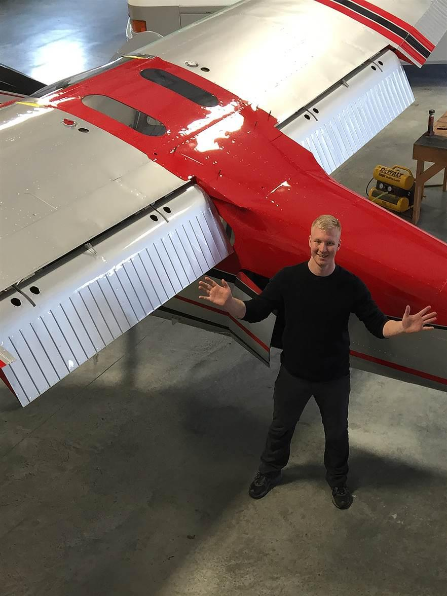 Kyle Fosso, a 21-year-old in Anacortes, Washington, bought a rusted out Cessna 170B when he was 15 and earned his A&P certificate while he restored the aircraft. Fosso plans to fly to all 50 states and produce videos championing general aviation's benefits. Photos courtesy of Kyle Fosso.