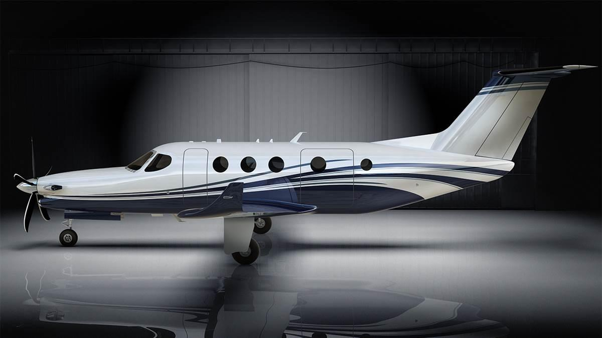 Textron's single-engine turboprop will be powered by a single, FADEC-equipped GE turboprop engine of 1,240-shp.
