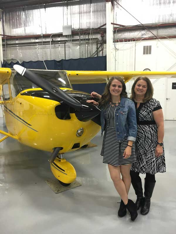 Paula Wivell is AOPA's Dispatch Coordinator and a private pilot.  Here she is with her daughter, Amanda.